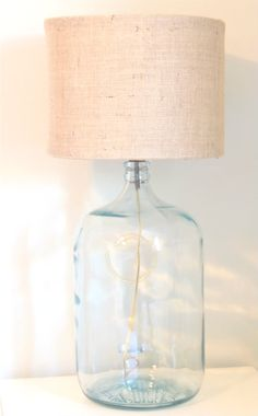 DIY...Made from Scratch Drum Shades with Glass Carboy Lamps