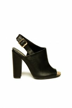 Jansen Peep Toe Heels in Black