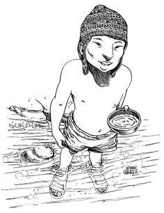 El Niño del Norte Tinta china con plumín sobre papel