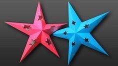 estrellas de papel transparente de colores para las ventanas - YouTube