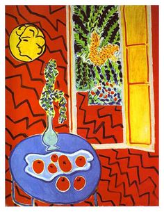 Red Interior: Still Life on a Blue Table' (1947), Henri Matisse