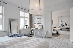 urban farmgirl: {sigh...} love a white painted floor...