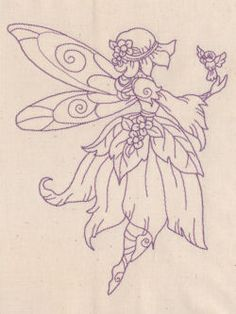 Pretty fairy embroidery - several designs