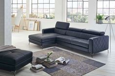 Wohnzimmer Ecksofa Dario in anthrazit - Stoffbezug Exklusives Design Sofa in anthrazit, Schlafsofa Kurze Information: Sofa DarioFarbe: