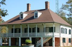 DARBY PLANTATION, New iberia, Louisiana, Iberia Parish. This a replica of the home built by Francios St Marc Darby .