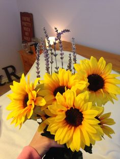 Sunflowers and lavender! We are going to grow a ton in our garden to use for decorations!!!