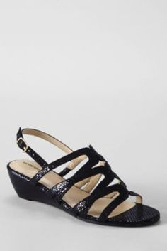 Women's Georgina Low Wedge Sandals from Lands' End
