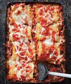 Beef, Basil & Goat Cheese Lasagna Roll-Ups