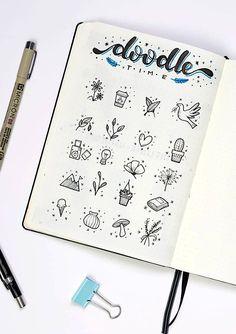 Cute little bullet journal doodles by ig@dutch_dots. | amazing doodle ideas