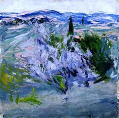 Ellen Thesleff, 'Landscape from Tuscany, Olive Grove'. Seascape Paintings, Landscape Paintings, Abstract Landscape, Abstract Art, Art Texture, Art Van, Scandinavian Art, Contemporary Paintings, Abstract Expressionism