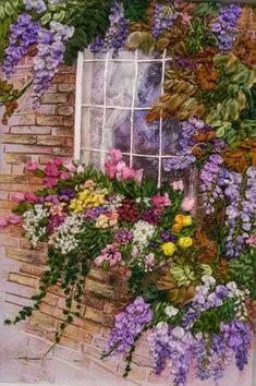 Wonderful Ribbon Embroidery Flowers by Hand Ideas. Enchanting Ribbon Embroidery Flowers by Hand Ideas. Silk Ribbon Embroidery, Hand Embroidery Patterns, Embroidery Kits, Thread Painting, Acrylic Painting Canvas, Belle Image Nature, Rock Flowers, Cottage Art, Ribbon Art