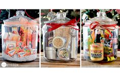 Gift Jars for lots of occasions : from One Good Thing by Jillee