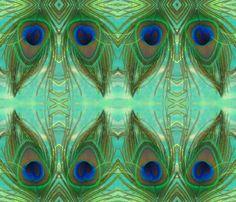 PEACOCK MASKS fabric by bluevelvet on Spoonflower - custom fabric