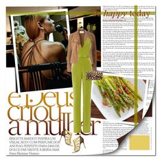 """""""be happy today"""" by lifestyle-ala-grace ❤ liked on Polyvore featuring Amanda Wakeley, Cushnie Et Ochs, Diane Von Furstenberg, Christian Louboutin, brown, glam, LeopardPrint, jumpsuit and kiwi"""