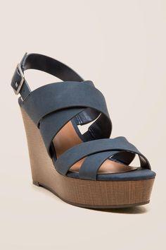 6e220aff3432 Indigo Rd Karla Criss Cross Sandals   Wedge Heels   Shoes  SandalsHeels