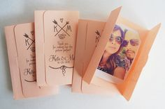 fuji instax mini trifold picture holders wedding party favors by MySweetDay
