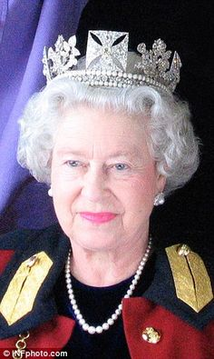Her Majesty during a Daily Mail photo-shoot to create a holographic portrait - April 2012.