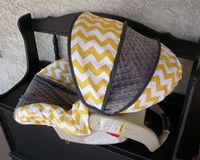 Yellow or Tiffany Blue Chevron with Charcoal Infant Car Seat Cover