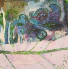"""""""Fitting Metaphor"""" original mixed media collage by Debbie Smith"""