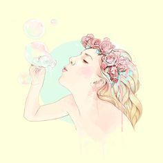 Bubbles by Ariana Perez, via Behance