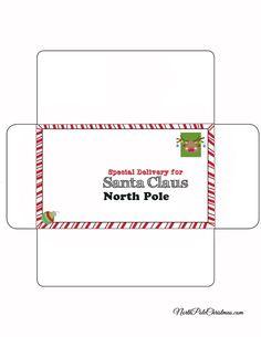 Envelope For Letter To Santa   Rudolph Stamp