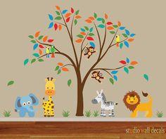 Nursery Peel and Stick Tree Decal Ecofriendly Fabric Decal 920