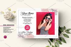 Photography Mini Session V1334 by Template Shop on @creativemarket Photography Mini Sessions, Photography Marketing, Professional Photographer, Polaroid Film, Templates, Creative, Shop, Stencils, Western Food