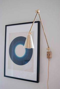 Articulating Industrial Wall Lamp - Steampunk - Lamp Light - Brass Lamp with Brass shade - Swing Arm 180 degrees di GrazianiMade su Etsy https://www.etsy.com/it/listing/204220893/articulating-industrial-wall-lamp