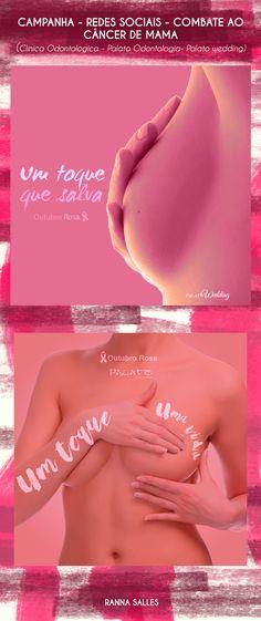 Campanha de prevenção ao câncer de mama (outubro rosa) para redes sociais.