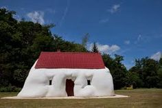 The World's Weirdest Houses: 40 Unusual Homes from around the Globe: Fat House, Baltic Centre For Contemporary Art, Gateshead, UK Unusual Buildings, Amazing Buildings, Amazing Houses, Fat House, Happy House, Photomontage, Erwin Wurm, Crazy Home, Unusual Homes