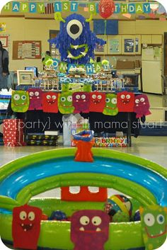 a {day} with lil mama stuart: Monster First Birthday Party: Decorations