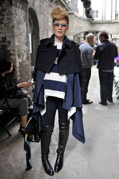 The street style of RóisínMurphy is indeed interesting
