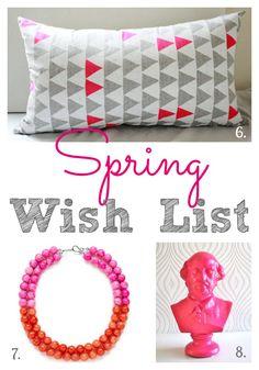My Spring Wish List for kitchen, home & closet