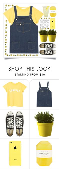 """lemon"" by cubukkrakker ❤ liked on Polyvore featuring MANGO, Retrò, Converse, Muuto and Pelle"