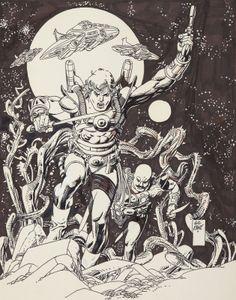 gil kane art | Cap'n's Comics: Starhawks by Gil Kane