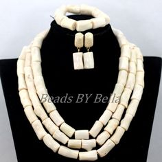 2017 New Design Nigerian Wedding Coral Beads Set Statement Necklace White African Beads Bridal Jewelry Sets Free Shipping ABK290. Yesterday's price: US $71.00 (58.01 EUR). Today's price: US $48.28 (39.44 EUR). Discount: 32%.