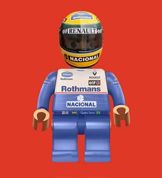Ayrton Lego Senna '94    All time great and an F1 Hero, Ayrton Senna in Lego form 1994