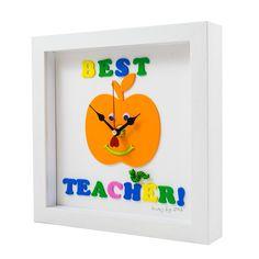 Best Teacher Personalised clocks handmade by Klocz by JOS