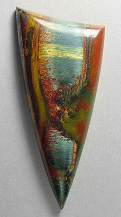 Marra Mamba tigereye cabochon by Sam Silverhawk gemstones #gemstone #cabochon