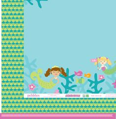 American Crafts - Pebbles - Party with Amy Locurto - 12 x 12 Double Sided Paper - Under The Sea at Scrapbook.com $0.99