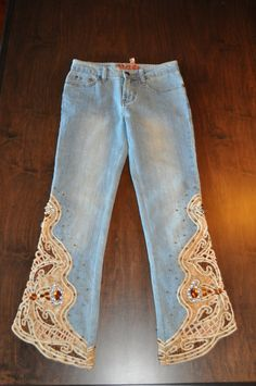 Vintage QQMEI Classic Jeans with Amazing by somewhereintheattic