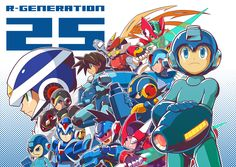 All the Megaman heroes