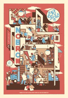 I love the colors and the cross section, it reminds me of a Chris Ware panel.
