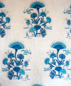 Seaweed in Cobalt from Katie Ridder #fabric #blue