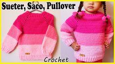 Crochet For Kids, Crochet Baby, Moda Crochet, Crochet Jacket, Crochet Videos, Baby Kids, Kids Outfits, Pullover, Youtube