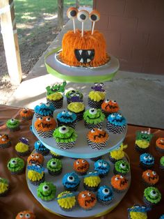 Monster themed 1st birthday https://www.facebook.com/confectionsofamadhousewife