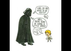 'Darth Vader And Son' Illustrations of Luke As A 4-Year-Old By Jeffrey Brown