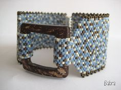 Bead Stitched Bracelet - great center piece design