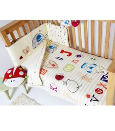 Buy your Clair De Lune ABC 2 Piece Cot/Cotbed Bedding Set from Kiddicare Bedding Sets| Online baby shop | Nursery Equipment