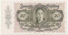 20 Schilling 1946 (Bäuerin) Österreich Zweite Republik Austria, Bohemian Rug, Vintage World Maps, Coins, History, Retro, Danish, Stop It, Stamps